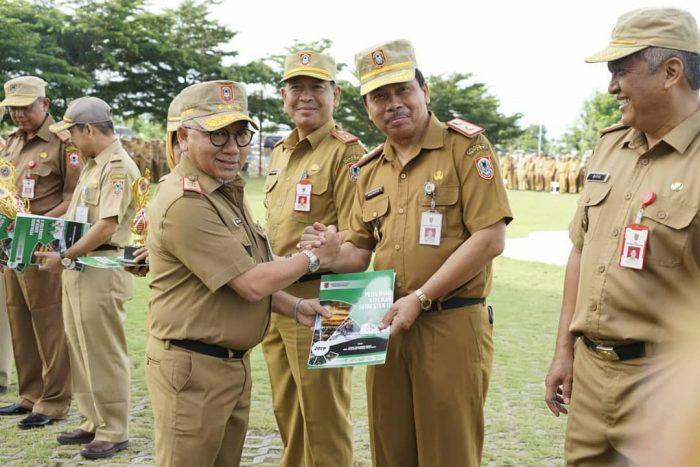 DUA BULAN Berturut-turut DPMPTSP Kalsel Terima Penghargaan