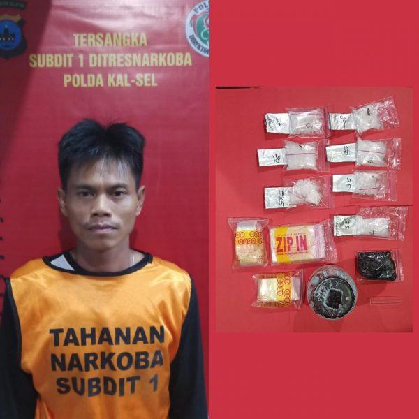 RUMAH PENGEDAR Digerebek, 11 Paket Sabu Disita Anggota Dit Resnarkoba
