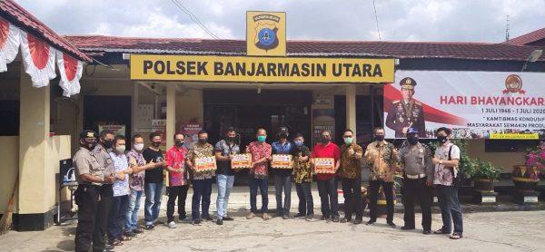 RATUSAN LUSIN Masker Dibagikan untuk Masyarakat Wilayah Banjarmasin Utara
