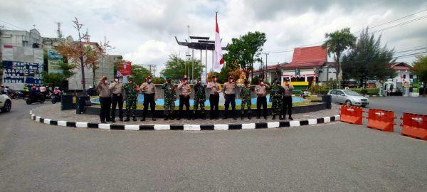 JAJARAN POLSEK DAN KORAMIL Wilayah Utara Upacara Bendera di Budaran Kayu Tangi