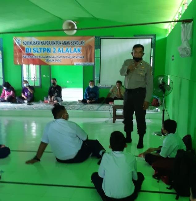 BAHAYA NAPZA Disampaikan ke Pelajar SMP
