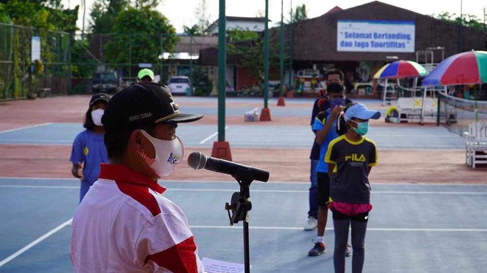 TURNAMEN Tenis Lapangan Tingkat Pelajar Dibuka Walikota Ibnu