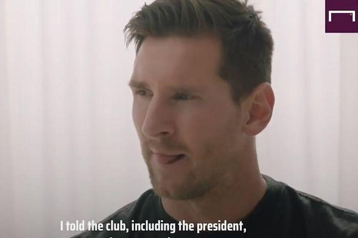 BATAL HENGKANG, Messi Putuskan Tetap Bertahan di Barcelona