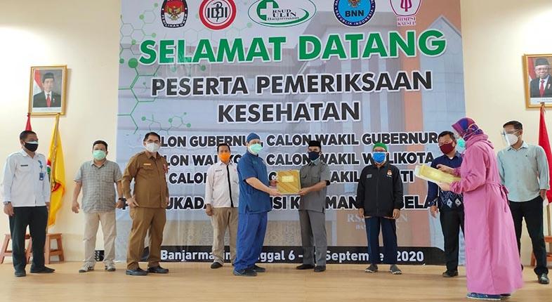 BERKAS TES Kesehatan Balon Kepala Daerah Gelombang Dua Diterima KPU