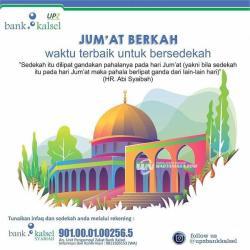 RAYAKAN Berkah Jumat dengan Bersedekah di Bank Kalsel