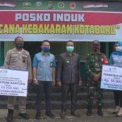 BANTUAN untuk Korban Kebakaran dari Bank Kalsel Diterima Pjs Bupati Kotabaru
