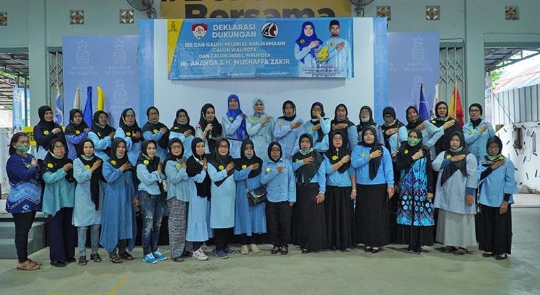 GALUH MILLENIAL Banjarmasin dan Relawan Independen Banua Deklarasi Dukung AnandaMu