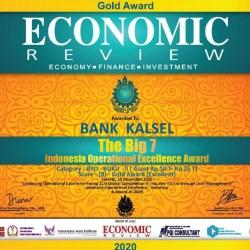 INDONESIA Operational Excellence Award 2020 dari Economic Review Diraih Bank Kalsel