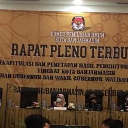 RAPAT PLENO Terbuka KPU Kota Banjarmasin, Ibnu – Arifin Unggul di Lima Kecamatan