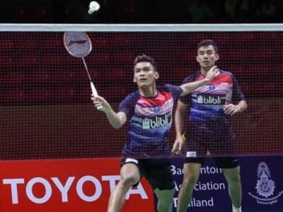 FIKRI/BAGAS Singkirkan Juara All England di Thailand Open II 2021