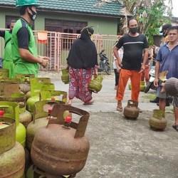 OPERASI PASAR Gas Melon Digelar Disperindag Atasi Kelangkaan