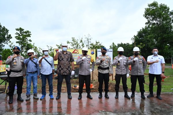 DIBANGUN Gedung Serbaguna di Mako Brimob, Kapolda Kalsel Berharap Rampung Tepat Waktu