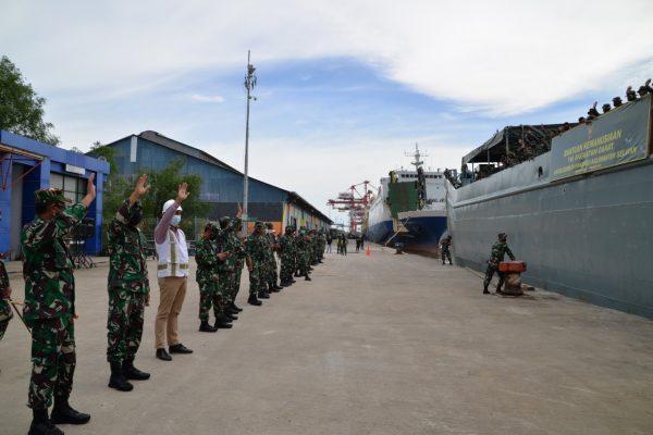 PELEPASAN  KRI ADRI-L, Satgas Telah Laksanakan Tugas Kemanusiaan di Kalsel