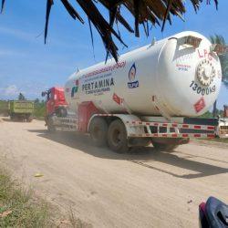 MULAI LANCAR Lalu Lintas Angkutan Gas di Jalan Gubernur Syarkawi