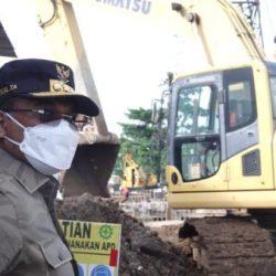 DITINJAU Jembatan Putus Akibat Banjir di Kabupaten Banjar