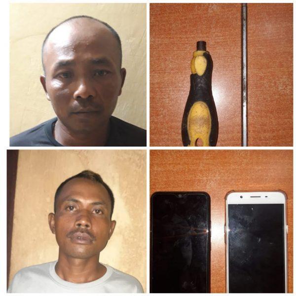 GABUNGAN POLISI Giring Pencuri dan Penadah Hp