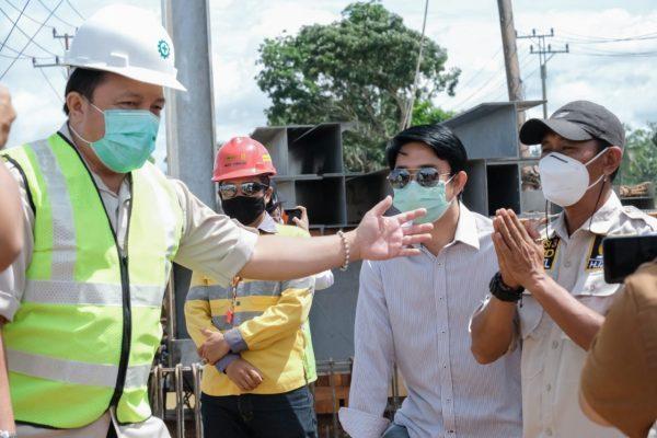 PROGRES Jembatan Pabahanan Tala Ditinjau Komisi III DPRD Kalsel, Rampung Akhir April
