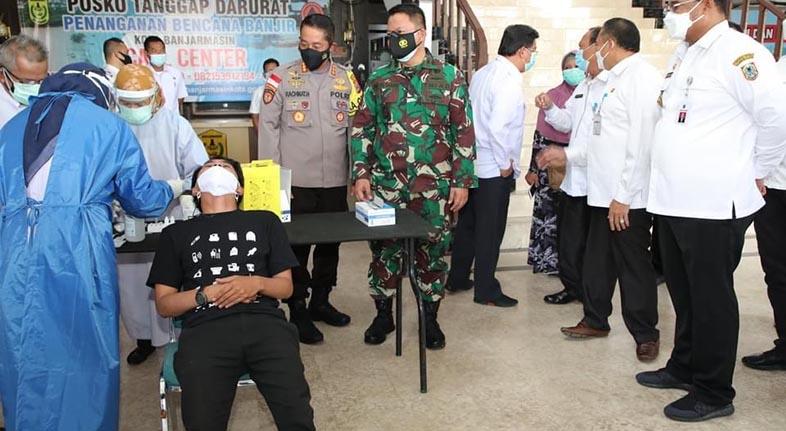 PEMPROV BANTU Banjarmasin Lima Ribu Rafid Tes Antigen