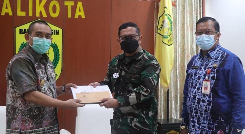 TINGKATKAN SINERGITAS, Tim Aju KKDN Sesko TNI Kunjungi Pj Walikota Banjarmasin