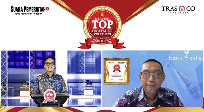 SABET INDONESIA TOP Digital PR Award 2021 Dorong Bank Kalsel Terus Tingkatkan Citra Perusahaan