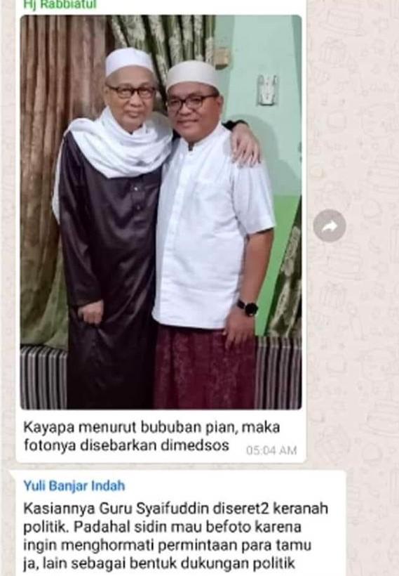 JADI SINDIRAN Anggota WAG Foto Denny-Guru Syaifuddin Beredar di Grup Politik FB