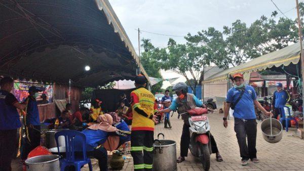 TIM JFR Terjun Bantu Korban Banjir Satui, Berposko di Kantor Desa Sinar Bulan