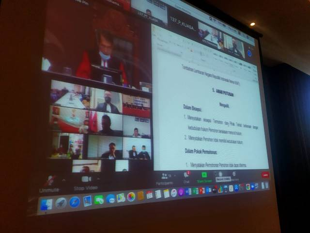 hasil pelaksanaan Pemungutan Suara Ulang (PSU) ke Mahkamah Konstitusi (MK) Republik Indonesia (RI)