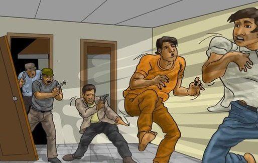 SEORANG POLISI TERLUKA Mendobrak Pintu dan Kaca Pecah, Hasilnya Ini yang Ditemukan