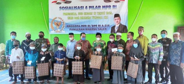 Sosialisasi 4 pilar kembali digaungkan oleh Anggota MPR-RI yang juga Anggota DPR-RI Pangeran Khairul Saleh