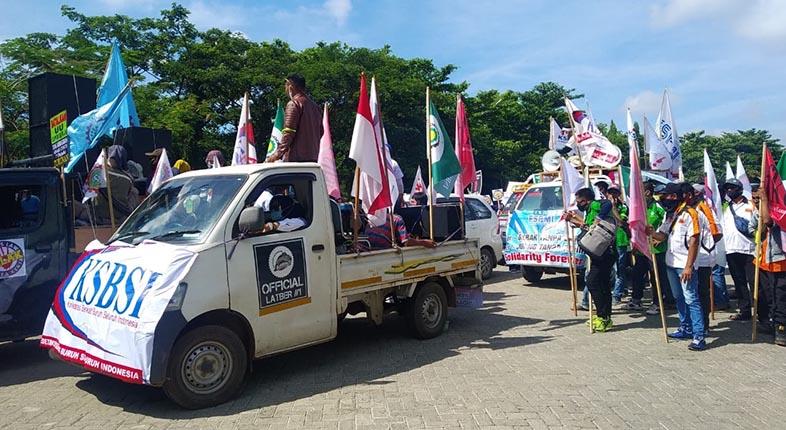 ANCAM Lakukan Aksi, Laporan Buruh Kalsel Tak Direspon