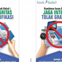 BANK KALSEL Serukan, Jaga Integritas dan Tolak Gratifikasi
