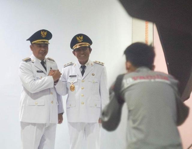 Proses Pengambilan Foto Walikota dan Wakil Walikota Banjarmasin