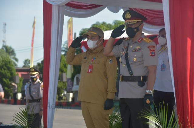 SEKDA Provinsi Kalsel Turut Hadir di Pelantikan 237 Bintara Siswa SPN Banjarbaru