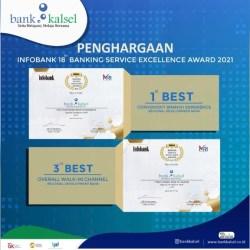 BANK KALSEL Didapuk Terbaik Dalam Banking Service Excellence Award 2021