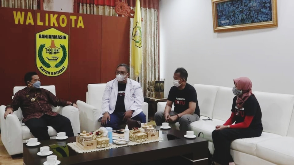 KOMUNITAS Sahabat Indonesia Satu Kunjungi Pemko Banjarmasin