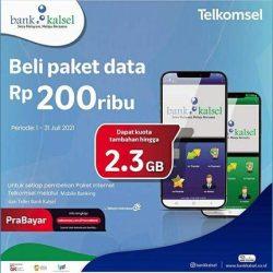 BANK KALSEL-TELKOMSEL Tawarkan Paket Data Berbonus Kuota Hingga 2,3 GB