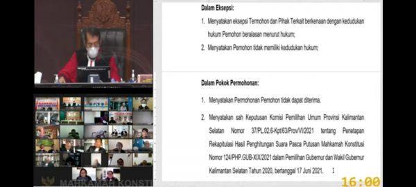 DITOLAK MK RI, Seluruh Gugatan PHP Pilgub Kalsel, BirinMu Resmi Pemenang