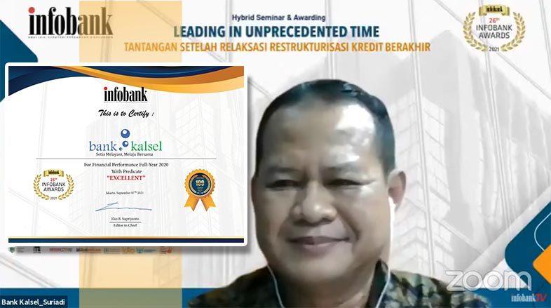 LAGI BANK KALSEL Ukir Prestasi Melalui Infobank Awards 2021