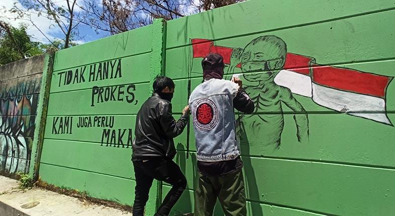 FOKUS PPKM, Satpol PP Kesampingkan Mural Sindiran