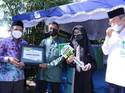BEDAH RUMAH Program Baznas Kota Banjarmasin Diresmikan Wawali