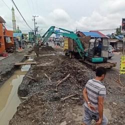 PROYEK PELEBARAN Jalan Masjid Jami Banjarmasin Dilanjutkan