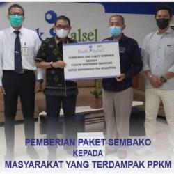 BERSAMA FWE, UPZ Bank Kalsel Salurkan 200 Paket Sembako Gratis
