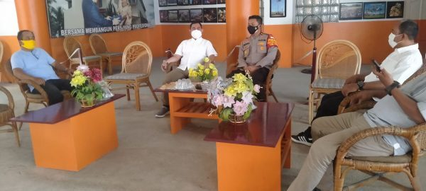SINERGITAS dengan Penggiat Jurnalistik, Kapolsek Banjarmasin Utara Berkunjung ke PWI Kalsel