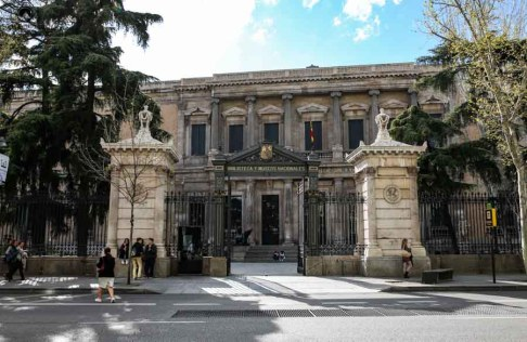 Biblioteca em o que fazer em Madrid