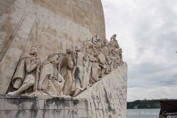 Close do Padrão dos Descobrimentos em Lisboa - Portugal