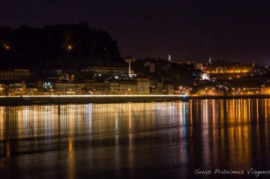Margem do Douro à noite em Porto
