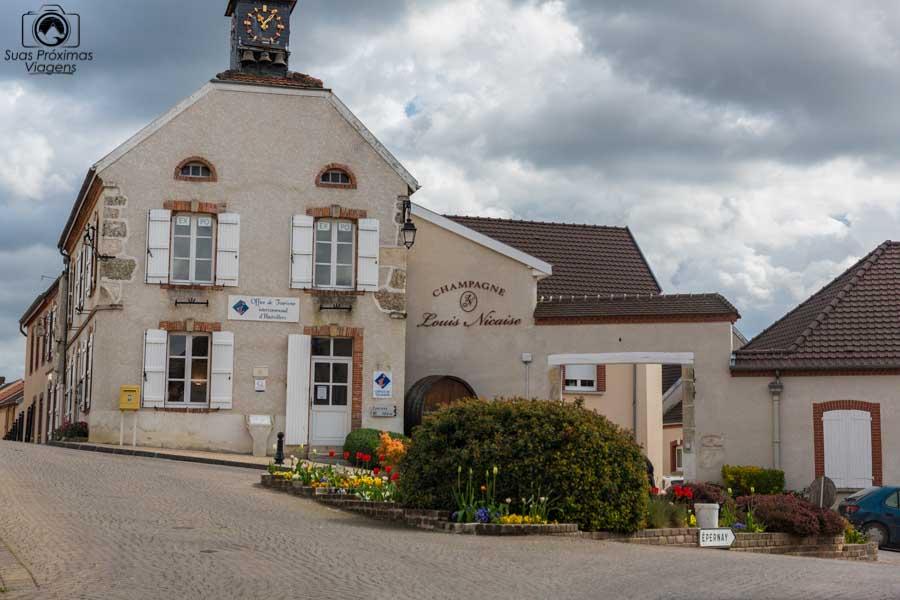 Imagem da oficina de turismo em Hautvillers na região de Champagne