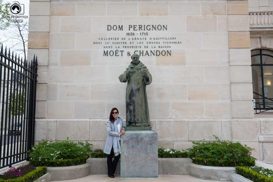 Vista de Don Perignon na região de Champange