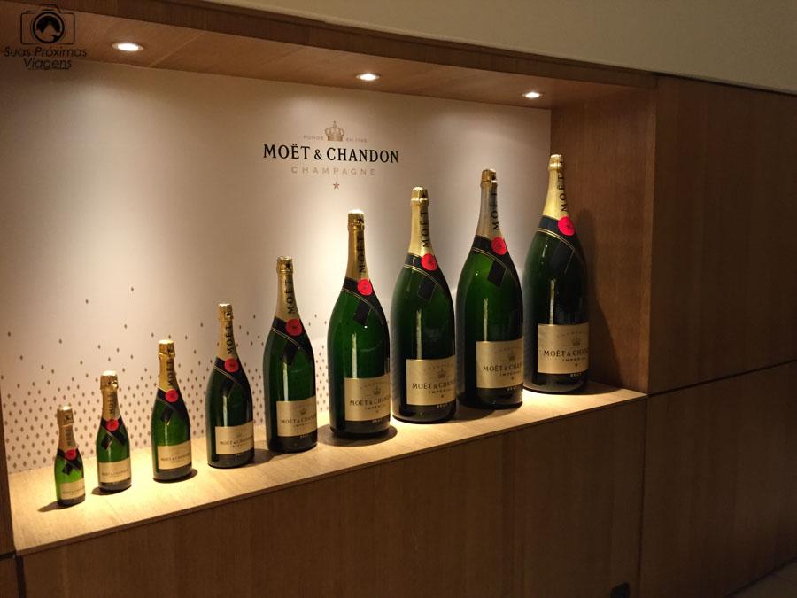 Imagem das garrafas que existem da Möet & Chandon