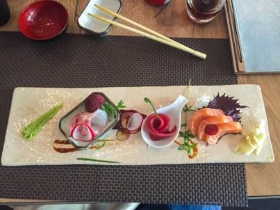 Uma porção de Shusi no Restaurante Imasa em Padua